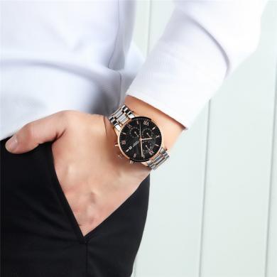 GUANQIN patrauklus solidus šveicariško lygio laikrodis firminėje dėžutėje-5