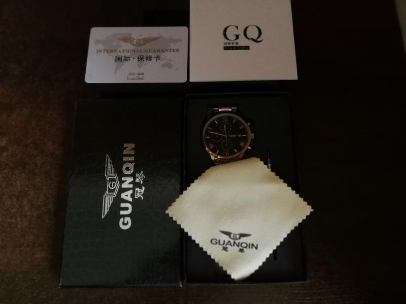 GUANQIN patrauklus solidus šveicariško lygio laikrodis firminėje dėžutėje-6