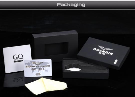GUANQIN patrauklus solidus šveicariško lygio laikrodis firminėje dėžutėje-7