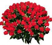 Rožės Šv. Valentinui: 100 rožių puokštė-0