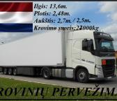 Kroviniai, gabenami šaldytuvinėmis puspriekabėmis. Olandija – Lietuva  Termo transportu (šaldytuvais) gabenami produktai, reikalaujantys temperatūrinio režimo Šaldytuvais vežame krovinius, kuriems reikia palaikyti pastovią temperatūrą: maisto produktus, g-0