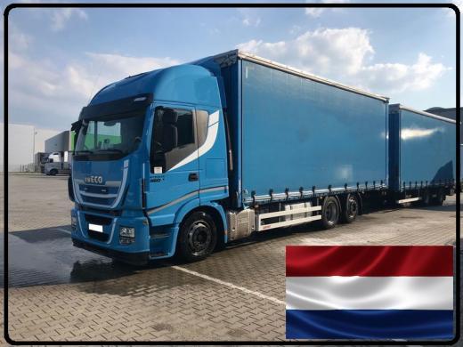 Krovinių Pervežimas autotraukiniais 120 m3 tūrio krovimo, 38 europadėklų (EP) Pilnų krovinių gabenimas ir Dalinių krovinių gabenimas Važiuojam iš Olandijos į Olandiją kiekvieną savaitę ! Pasikrovimas / išsikrovimas visa Lietuva / visa Olandija. Išmatavima-0