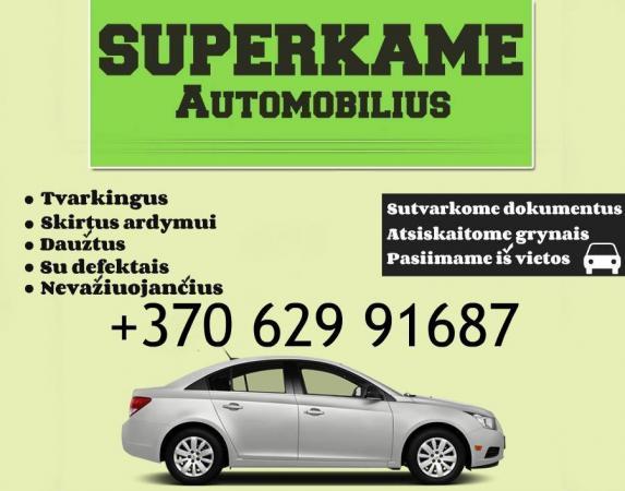 Greiciausias auto supirkimas KAUNE 863368118-0