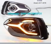 Hyundai Accent 17-18 DRL LED Daytime Running Lights autobody parts-0