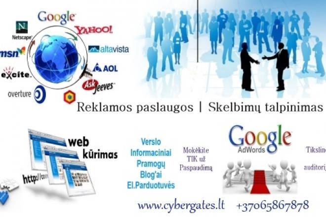 Skelbimų talpinimas, reklama internete-0