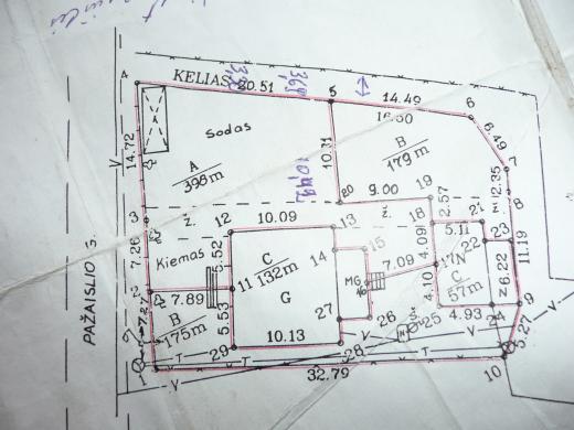 Parduodama namo dalis 66 kv. m su 5 arų sklypu Vičiūnuose prie pušyno Pažaislio g.-4