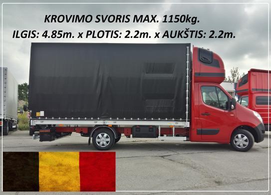 Krovinių Pervežimas tentiniu mikroautobusiuku Lietuva – BELGIJA – Lietuva ! Telpa 10 euro palečių iki 1200kg. Vežame krovinius, siuntas, baldus, įrengimus ir t.t / Galime perkraustyti iš vienos šalies į kitą, Lietuva – Europa – Lietuva ! Busiuko Matmenys:-0