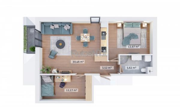 Parduodamas 3- jų kambarių butas Klaipėdos centre-6