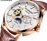 GUANQIN patrauklus solidus šveicariško lygio laikrodis firminėje dėžutėje-0