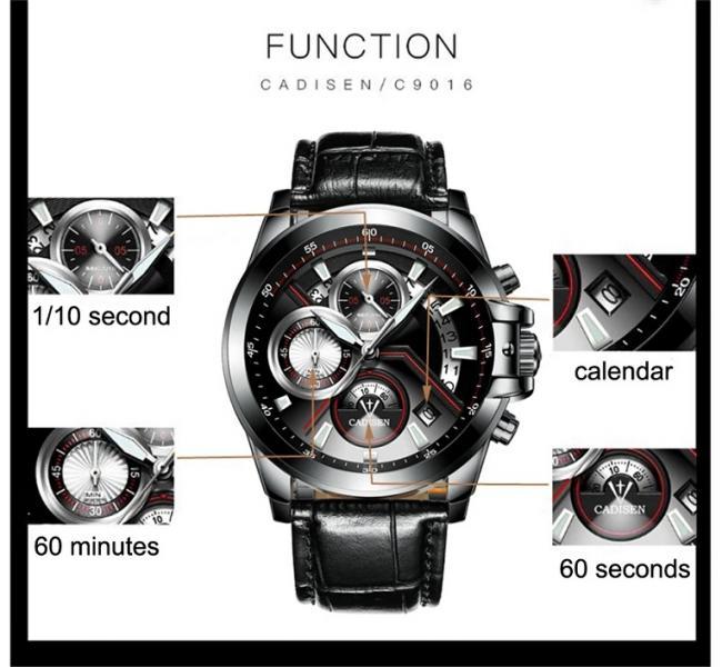 CADISEN ryškus gražus laikrodis dėžutėje-1