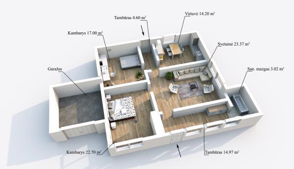 Elektrėnų sav., Vievio m., Lauko g., mūrinis namas-6