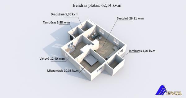 Elektrėnų sav., Gabriliavos k., Klevų g., rąstinis namas-7