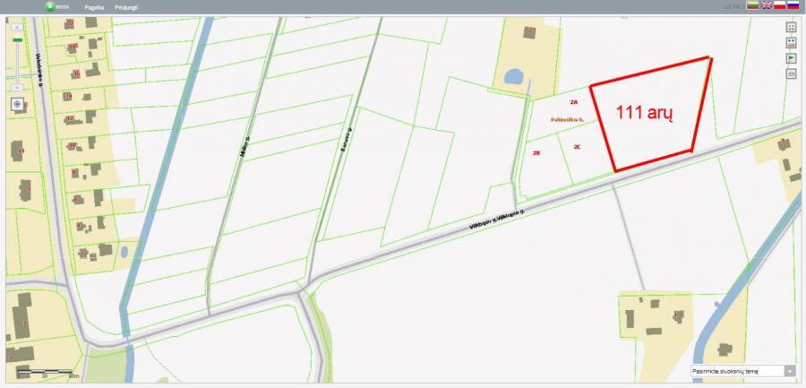 111 arų sklypas prie Asfalto, Paliūniškyje-1
