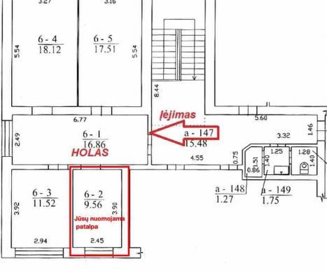 Centras - Savanorių a. 12 - nuomojamos komercinės patalpos - €75-7
