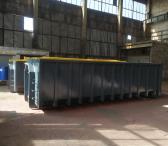 Kabliu užtraukiami hooklift ir užkeliami konteineriai-0
