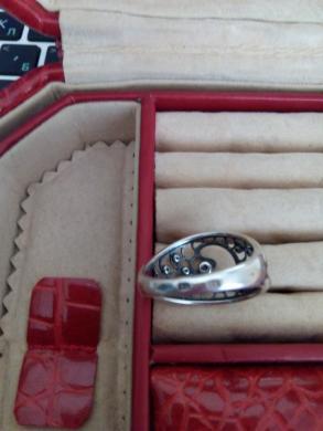 sidabrinis žiedas su cirkoniu -2