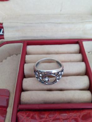 sidabrinis žiedas su cirkoniu -3