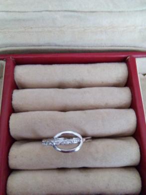 sidabrinis žiedas su cirkoniu -0