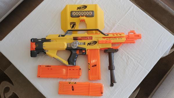 Vaikiškas šautuvas Nerf N-Strike ECS Stampede automatinis šautuvas-0