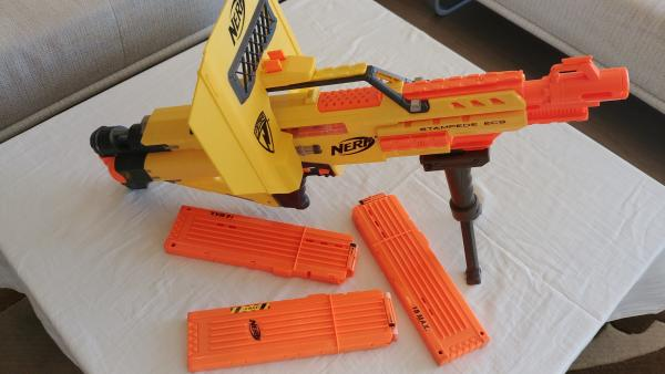 Vaikiškas šautuvas Nerf N-Strike ECS Stampede automatinis šautuvas-1