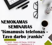 """NEMOKAMAS SEMINARAS """"Mobilusis telefonas tavo darbo įrankis""""-0"""