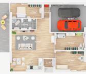 Šiauliai, Žaliūkiai, Nemuno g., mūrinis namas-0
