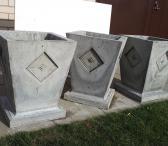 Rankų darbo betoniniai vazonai-0