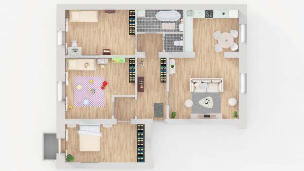 Šiauliai, Centras, Dvaro g., 4 kambarių butas-0