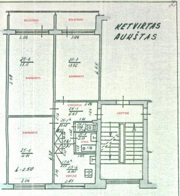 Parduodamas trijų kambarių butas-7