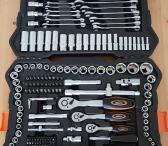 Naujas profesionalus įrankių komplektas Cramp 216 dalių-0