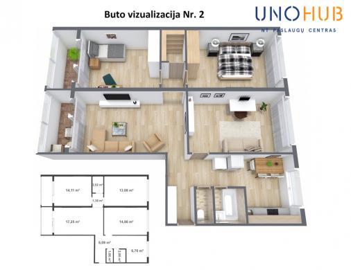 Parduodamas butas Baltupio g., Baltupiuose, Vilniuje, 78.33 kv.m ploto, 4 kambariai-7