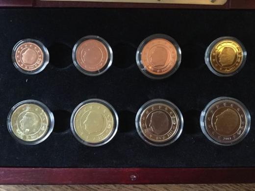 Belgija 2000 ir 2001 metų eurų rinkiniai-3