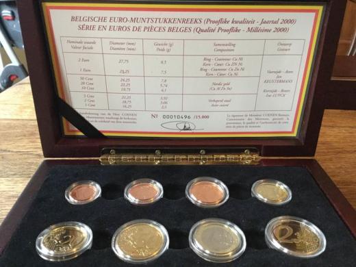 Belgija 2000 ir 2001 metų eurų rinkiniai-7