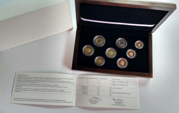 Oficialus Latvijos 2014 eurų rinkinys Proof-0