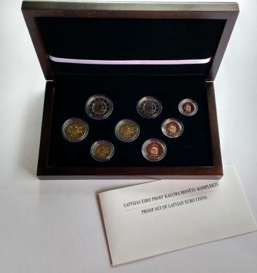 Oficialus Latvijos 2014 eurų rinkinys Proof-5