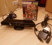 Xbox 360 kinect sensorius kamera su kinect adventures žaidimu  -35€-0