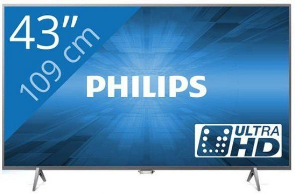"""PHILIPS Smart LED ultra slim, pixel plus ultra HD TV, 4K, 43"""" 109cm. Dual core, Kaip naujas, kaina 299e. Su dokumentais, pilnu komplektu, yra galimybė atvezti už papildomą kainą.-0"""