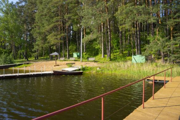 Poilsiavietė, poilsio namai pušyne prie ežero Žalvės-2