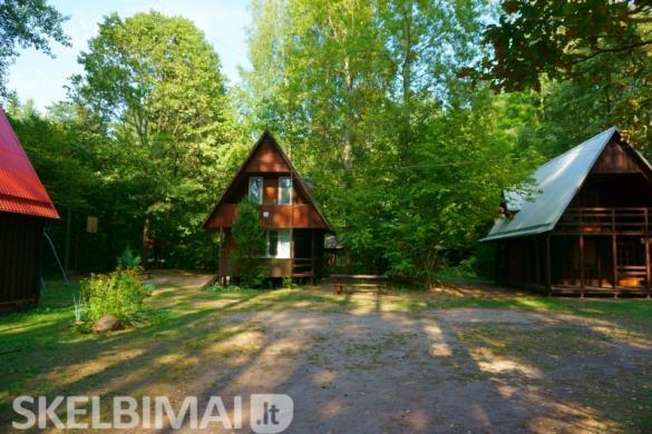 Poilsiavietė, poilsio namai pušyne prie ežero Žalvės-4