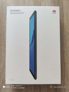 Huawei MediaPad T5 10.1 4G, tvarkinga, komplektas, kaina 120e.-0