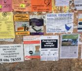 Lauko reklama seniūnijų skelbimų lentose-0