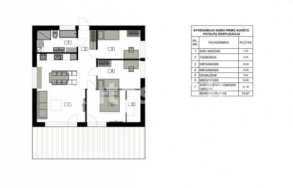 Parduodamas namas Kalotėje-3