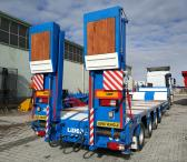 Extendable 4 axle lowbed semi trailer from manufacturer-0