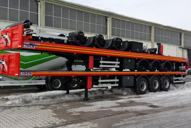 Flatbed semi trailer-0