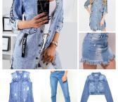 Džinsiniai rūbai: džinsai, sijonai, švarkai, liemenės.-0