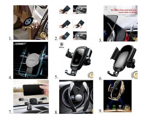 Automobiliniai telefonų laikikliai / bevieliai krovikliai geriausiomis kainomis-0