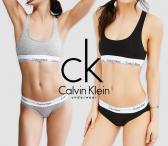 Calvin Klein moteriskas apatinis trikotazas modern cotton sportiniai/laisvalaikio rinkinukai   Komplektas (sportiniai /laisvalaikio marskinukai liemenele + tanga stringai arba kelnaites)-0