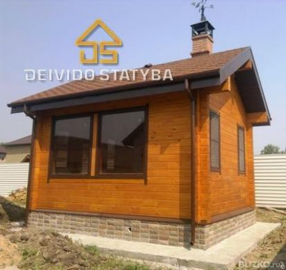 Dažome Medinius namus-0