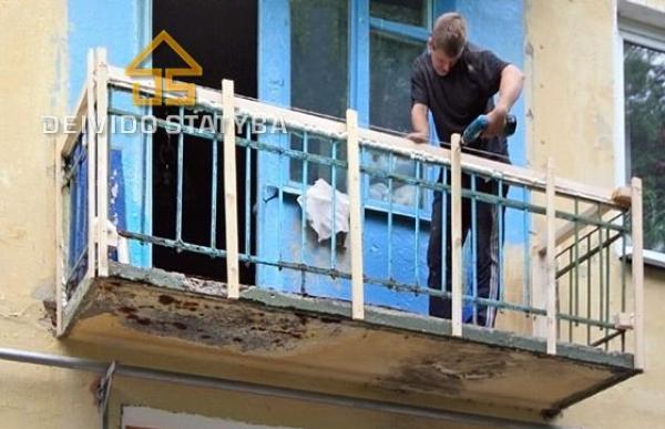 Remontuojame,skardiname balkonus.-1