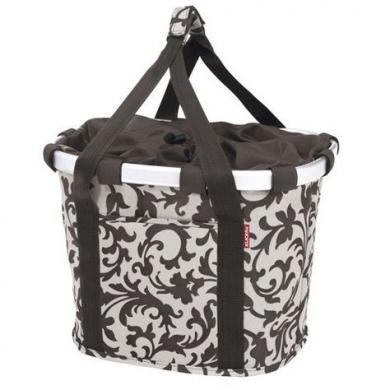 Reisenthel Klickfix miesto Dviračių krepšys ant vairo bikebasket tvarkingas su adapteriu, kisenelemis, pinigine, telefono dėklu, uztraukiamas su rankenomis, uždedamas ir nuimamas vienu paspaudimu KlickFix sistema, kaina 99.99e.-0